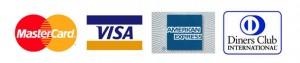MasterCard Visa AMercan Express Diners Club